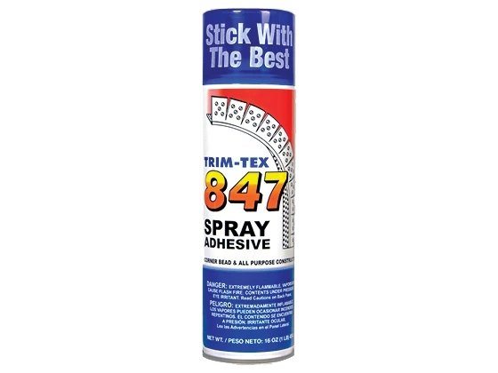 Trim-Tex 847™ Drywall Spray Adhesive 16oz Can - Toolriver | Online Taping Tool Boutique - Adhesives & Caulking - Trim-Tex Drywall Products