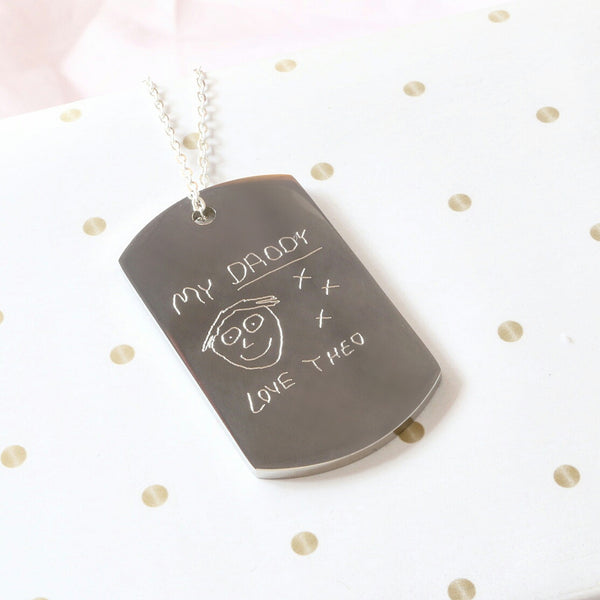 Handwritten or Text Pendant Necklace