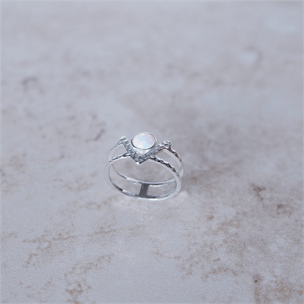 Luxe Snow Opal Ring