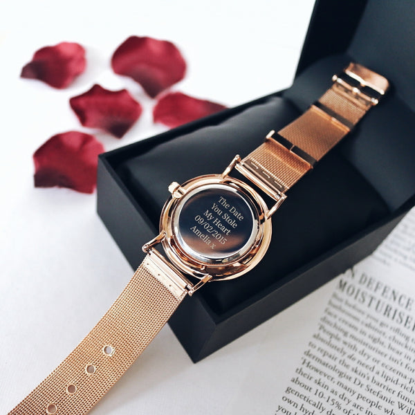 Custom Rose Gold Ladies Watch