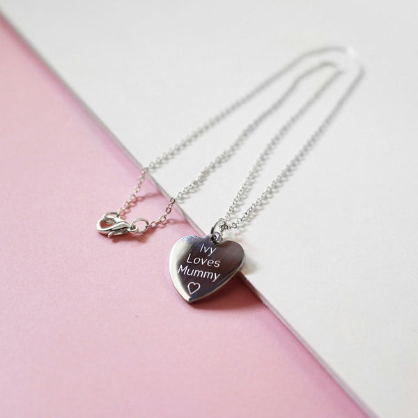 Premium Personalised Heart Necklace