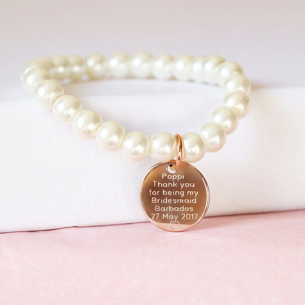 Rose Gold & Pearl Bracelet