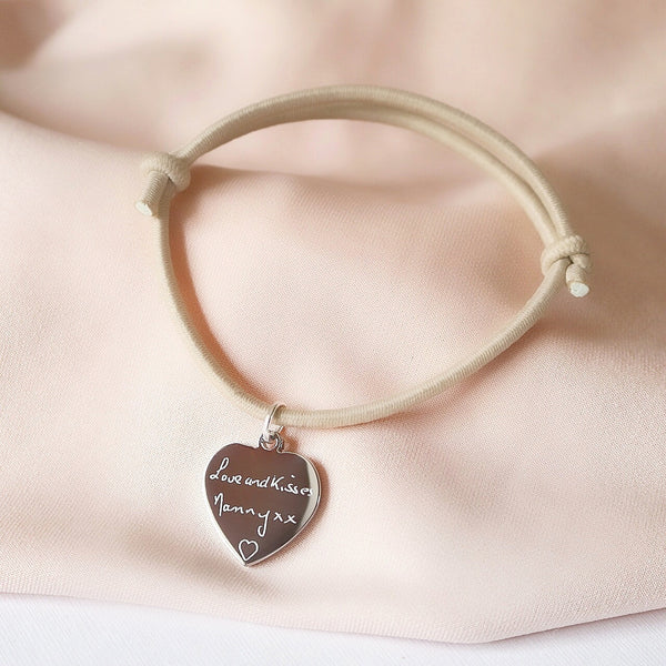 Handwritten Adjustable Bracelet