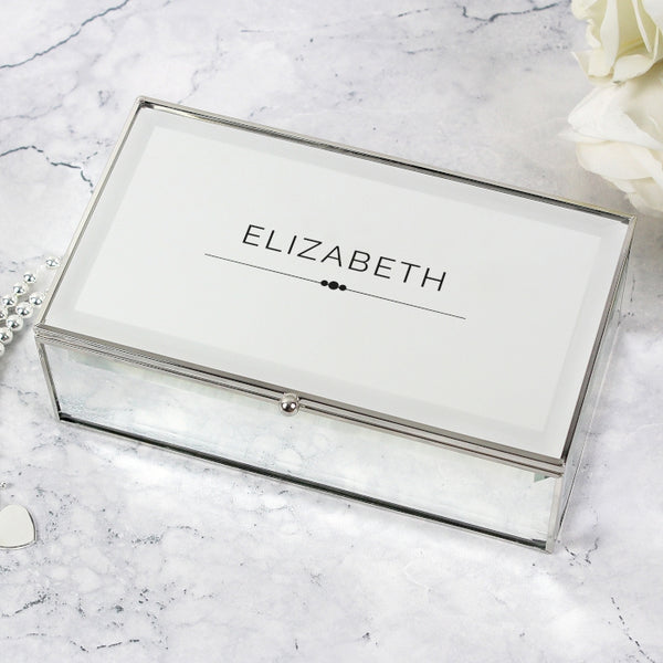Personalised Classic Mirrored Jewellery Box