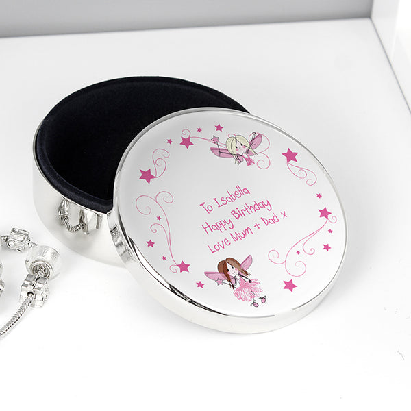 Personalised Sparkle Fairy Trinket Box