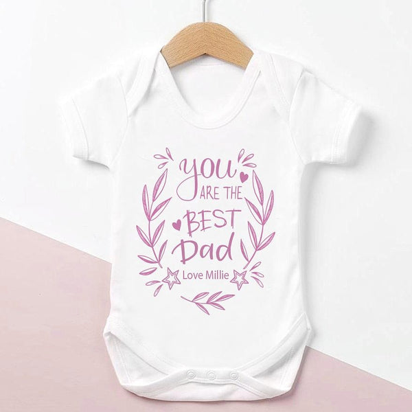 Best Dad Pink Bodysuit