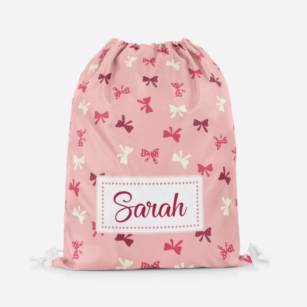 Bow Drawstring Bag
