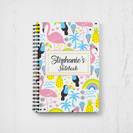 Flamingos & Parrots Notebook