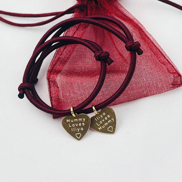 Gold Heart Bracelet Set