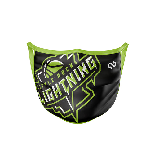 Little Rock Lightning Face Mask
