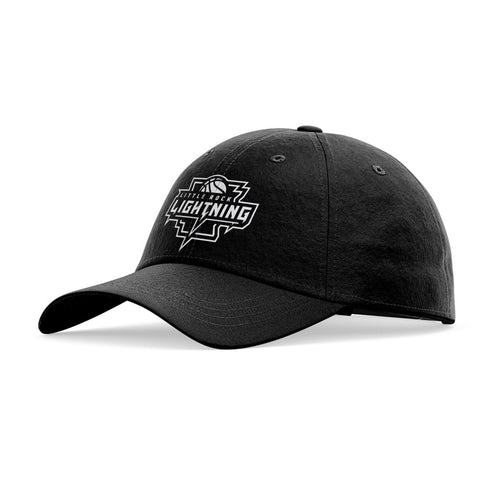 Little Rock Lightning Official Team Logo Hat · Rounded (Whiteout)