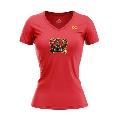 Raleigh Firebirds Women's Primary Logo V Neck Shirt