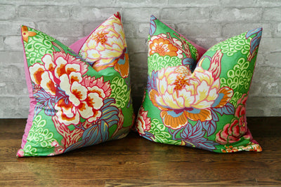 HONSHU FLORAL GREEN PILLOW COVER - Pillow Talk Design | Pretty Home Accessories