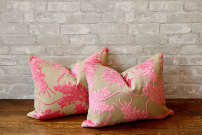 SPRING VELVET PILLOW COVER //READY TO SHIP// - Pillow Talk Design | Pretty Home Accessories