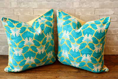 CHELSEA FLORAL LAGUNA PILLOW COVER - Pillow Talk Design | Pretty Home Accessories