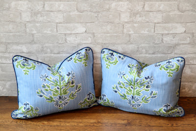 CLARA CORNFLOWER PILLOW COVER - Pillow Talk Design | Pretty Home Accessories