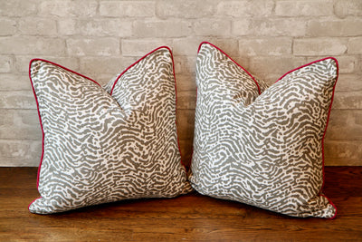 ST. CROIX CHARCOAL PILLOW COVER - Pillow Talk Design | Pretty Home Accessories