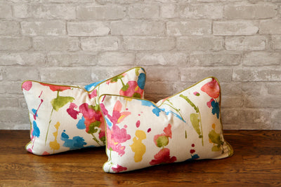 WATERCOLOR FLORAL PILLOW COVER //READY TO SHIP// - Pillow Talk Design | Pretty Home Accessories