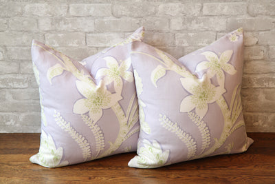 AVALON ECUADOR LILAC PILLOW COVER - Pillow Talk Design | Pretty Home Accessories
