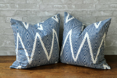 BALI NAVY PILLOW COVER - Pillow Talk Design | Pretty Home Accessories