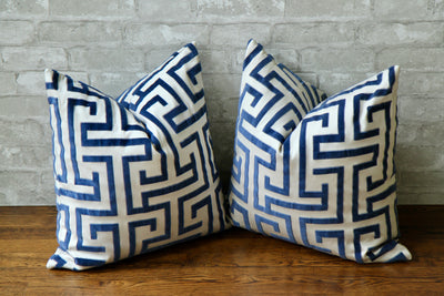 MING TRAIL NAVY PILLOW COVER - Pillow Talk Design | Pretty Home Accessories