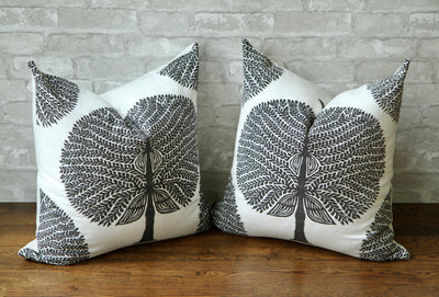 MULBERRY TREE BLACK & WHITE PILLOW COVER - Pillow Talk Design | Pretty Home Accessories
