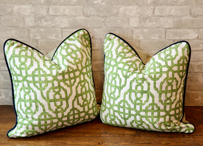 IMPERIAL JADE PILLOW COVER //READY TO SHIP// - Pillow Talk Design | Pretty Home Accessories