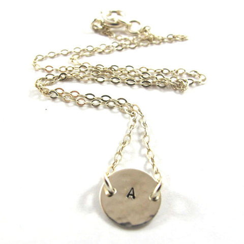 Personalized Initial Medallion Necklace, 925 Sterling Silver|שרשרת מדליון אות מכסף סטרלינג