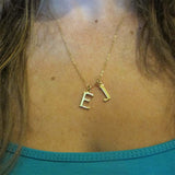 Two Initials charm necklace|שרשרת 2 אותיות