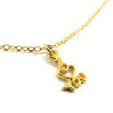 Charm Necklace, I love you|שרשרת עם תליון I love you