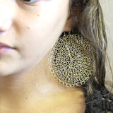 Knitted earrings, Sunny day|עגילים סרוגים מגולדפילד, יום שמשי