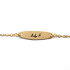 ALF Bracelet, Ellipse, 14k Gold-Filled|ALF צמיד אליפסה מגולדפילד 14 קראט