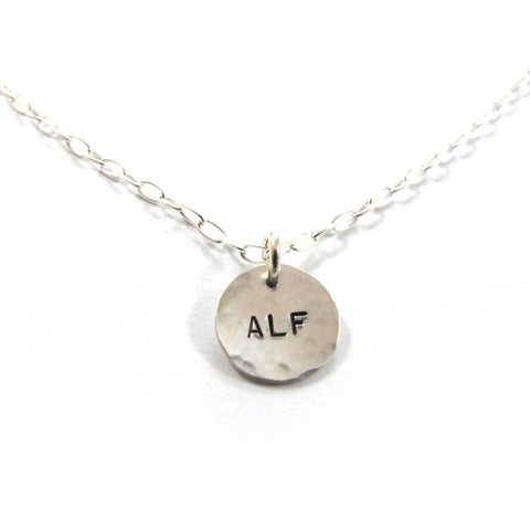 ALF vegan necklace, Silver|שרשרת ALF מכסף