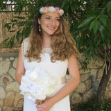 Satin and Chiffon Wedding bouquet / Bridal bouquet|זר לכלה משיפון וסאטן