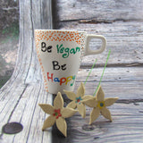 Be vegan be happy mug|ספל בי ויגן בי הפי