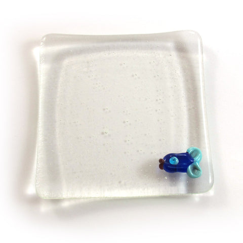 Clear soap dish with a fish|סבונייה שקופה עם דג
