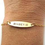 Diabetic Bracelet, Ellipse, 14k Gold-Filled|צמיד אליפסה סוכרתי מגולדפילד 14 קראט