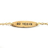 Go vegan Bracelet, Ellipse, 14k Gold-Filled|צמיד אליפסה גו ויגן מגולדפילד 14 קראט