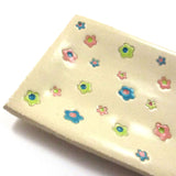 A pastel flowered Plate for English Cake|צלחת בגווני פסטל לאינגליש קייק