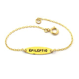 Epileptic Bracelet, Ellipse, 14k Gold-Filled|צמיד אליפסה אפילפטי מגולדפילד 14 קראט