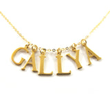 6 initials charm necklace, 14k gold filled|שרשרת 6 אותיות באנגלית