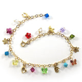 Ankle Charm Bracelet, 14k Gold-Filled|צמיד קמיעות לרגל מגולדפילד 14 קראט