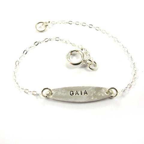 Personalized Bracelet, Ellipse, Silver|צמיד אליפסה כסף