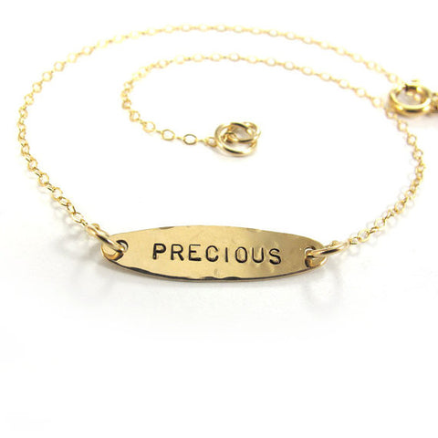 Ankle Bracelet Bracelet, Ellipse, 14k Gold-Filled|צמיד אליפסה לרגל מגולדפילד 14 קראט