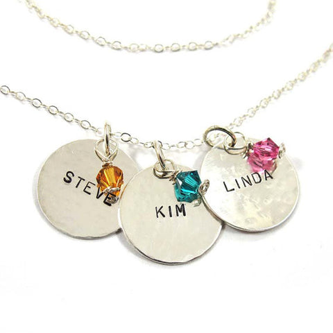 Personalized 3 names necklace, silver|שרשרת 3 שמות מכסף