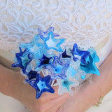 Wedding bouquet / Bridal bouquet, Blue and white|זר לכלה בגווני כחול לבן