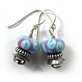 Flower, Lampwork Earrings|עגילי פרח