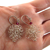 Scent of the past earrings, Ruby|עגילי בקבוק בושם, קריסטל רובי