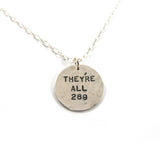 They are all 269 vegan necklace, Silver|שרשרת כולם הם 269, כסף