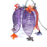 Tulip light fixture-purple orange|גוף תאורה צבעוני